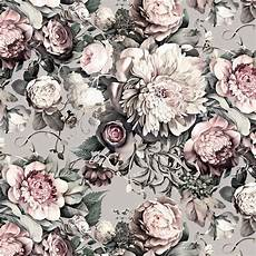 flower wallpaper grey floral ii gray vinyl wallpaper ellie cashman design