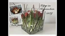 Deko Mit Tulpen - diy fr 252 hlingsdeko tulpen im kerzenschein glas in glas