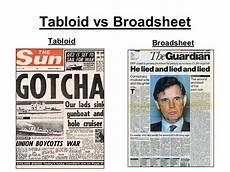 essay sle comparison of a broadsheet and tabloid