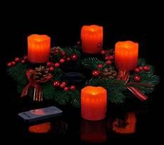 adventskranz weihnachtskranz 4 led echtwachs kerzen advent