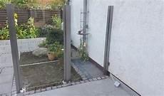 Terrassen Windschutz Glas - windschutz aus glas und edelstahl metall leverkusen