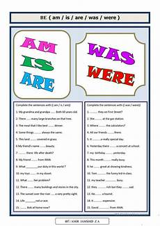 be am is are was were english esl worksheets