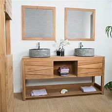 meuble sous vasque salle de bain meuble vasque de salle de bain en teck cosy 160cm