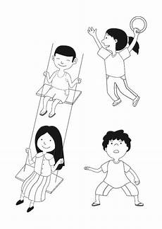 malvorlagen spielende kinder malvorlage spielende kinder kostenlose ausmalbilder zum