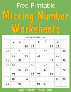 free math printables missing number worksheets contented at home