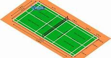 Gambar Dan Ukuran Lapangan Bulu Tangkis Badminton