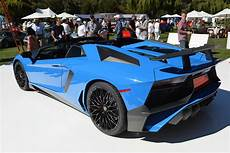 lamborghini aventador sv roadster side view blue lamborghini aventador sv roadster at the quail rear side view sssupersports