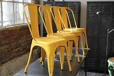 4 ancienne chaise tolix xavier pauchard jaune des annees 50