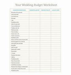 24 wedding budget templates free sle exle format download free premium templates