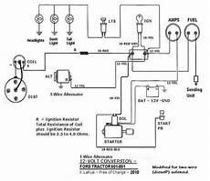 12 volt tractor alternator wiring diagram 801 12volt 1wire ford tractors tractors 8n ford tractor