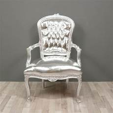 fauteuil baroque style louis xv argent meuble baroque