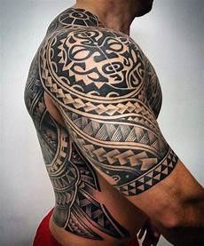 75 Half Sleeve Tribal Tattoos For Masculine Design