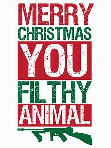 merry christmas you filthy animal men s white t shirt buy online at grindstore com