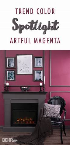 trend color spotlight artful magenta burgundy living