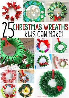 Basteln Weihnachten Kindergarten - 25 winter wreath crafts for