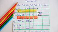 Charminar Chart Preparation Time Study Timetables Ii Of Iii Onlinegrinds Ie Blog