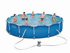 Frame Pool Rund - bestway frame pool quot steel pro quot set rund 427 x 84 real