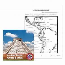 ancient aztecs incas ancient americas map worksheet grades 4 to 6 ebook