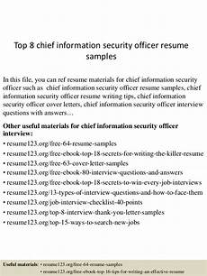 resume information security oficer top 8 chief information security officer resume sles