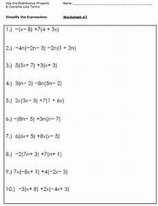 algebra simplify expressions worksheets 8391 algebra worksheets for simplifying the equation with images algebraic expressions