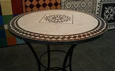 mosaik tisch mosaiktisch rund 80 cm stehtisch bistrotisch handarbeit