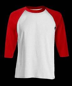 jual kaos polos raglan warna putih lengan merah cotton combed 20s di lapak keng cell pangkeng