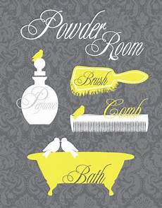 Etsy Yellow And Gray Bathroom by Bathroom Powder Room Yellow And Gray Custom