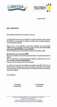 Dons Aux Associations Sportives Courrier Aux Adh 233 Rents B 233 N 233 Voles Et Donateurs Telethon