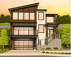 modern house plan for a sloping lot 85184ms