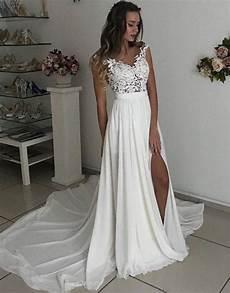 beach wedding dresses summer wedding dresses high splits wedding dresses lace wedding dresses on