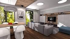 salon z jadalnią projekt wnętrza salon jadalnia kuchnia m w