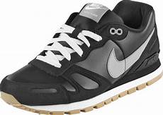 nike air waffle trainer leather shoes black grey