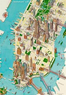 new york tourist map ニューヨークポスター
