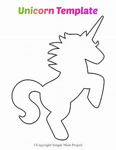 free printable unicorn template simple project