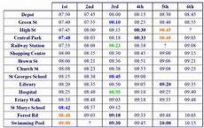 bus schedule worksheets you can see that there is a lot more information this timetable