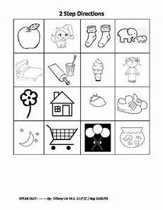 multi step directions worksheets 11737 following directions coloring activity two step directions by speakout