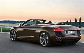 Audi R8 Roadster Back Angle Wallpapers