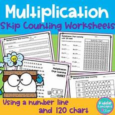 skip counting number line for multiplication worksheets 11962 multiplication skip counting worksheets number line and 120 chart
