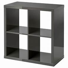Kallax Shelf Unit High Gloss Gray Ikea