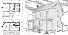 two story 16 32 virginia farmhouse house plans project small house