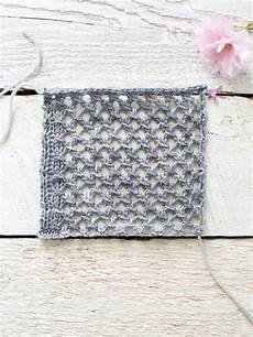 Einfaches Lochmuster Stricken - how to make an easy lace knit shawl pattern flax twine