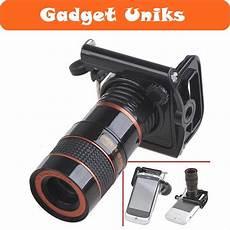 jual lensa kamera telezoom untuk smartphone handphone hp klem gadgetuniks di lapak gadget