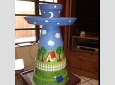DIY Terra Cotta Flower Pot Bird Bath   Home Design, Garden