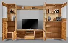 Wohnwand Hersteller Deutschland - wohnwand anbauwand 4 teilig wohnzimmer eiche teilmassiv