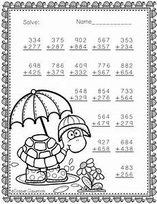 addition worksheets with regrouping 8757 3 nbt 2 themed 3 digit addition with regrouping by copper classroom