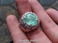 batu cincin zamrud batu permata zamrud emerald beryl colombia asli kode 729 wahyu mulia