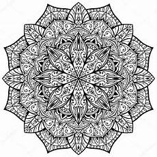 rosace orientale dessin vector ornate mandala on a white background stock