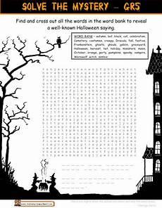 grade 6 halloween message worksheet halloween worksheets school holiday activities