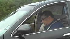 In Car - driver gets a attack while driving car