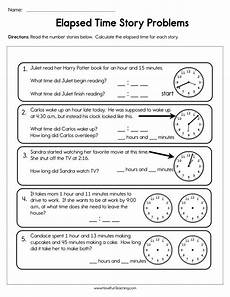 elapsed time worksheets 5th grade word problems 3290 elapsed time story problems worksheet teaching